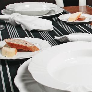 Conjunto de 6 Pratos Sobremesa 23cm Soleil White