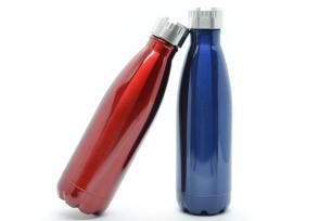 Kit 2 Garrafas Térmicas Squeeze (Azul/Vermelha)