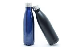 Kit 2 Garrafas Térmicas Squeeze (Azul/Preta)