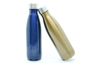 Kit 2 Garrafas Térmicas Squeeze (Dourada/Azul)
