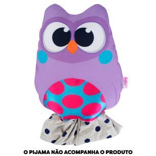Almofada Porta Pijama - Bubu e as Corujinhas