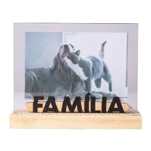 Porta Retrato Palavra - Natural Colors Família