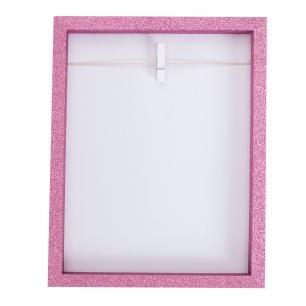 Porta-retrato Clip Glitter -rosa