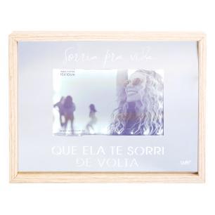 Porta-retrato Espelho Led - Sorria Pra Vida