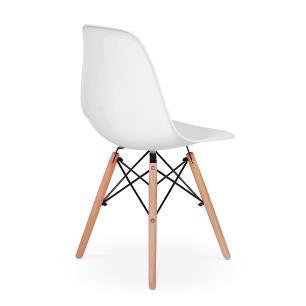 Cadeira Charles Eames Eiffel Dkr Wood - Design - Branca