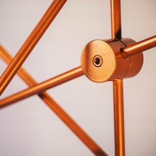 Kit Sputnik Spencer Preto com Cobre c/ 6 Lâmpadas Bulbo