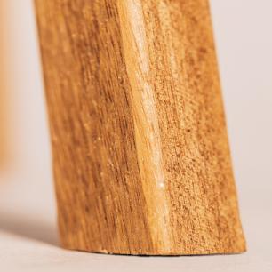 Abajur de Chão Tripé | Madeira de Cedro | Cúpula Revestida de Madeira | Tam: 150x44cm | Mod: Eros