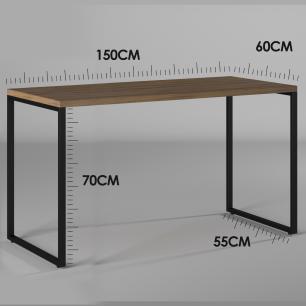 Mesa Para Escritório Diretor Estilo Industrial  Vintage | Tam: 150x60|Cor: Lamina Dourada