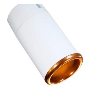 Trilho Eletrificado 1 metro com 4 Spots Branco   Suspenso Cabo de Aço   GU10 6000K   COR: Branco com Cobre   TAM: 1M   MOD: Z4