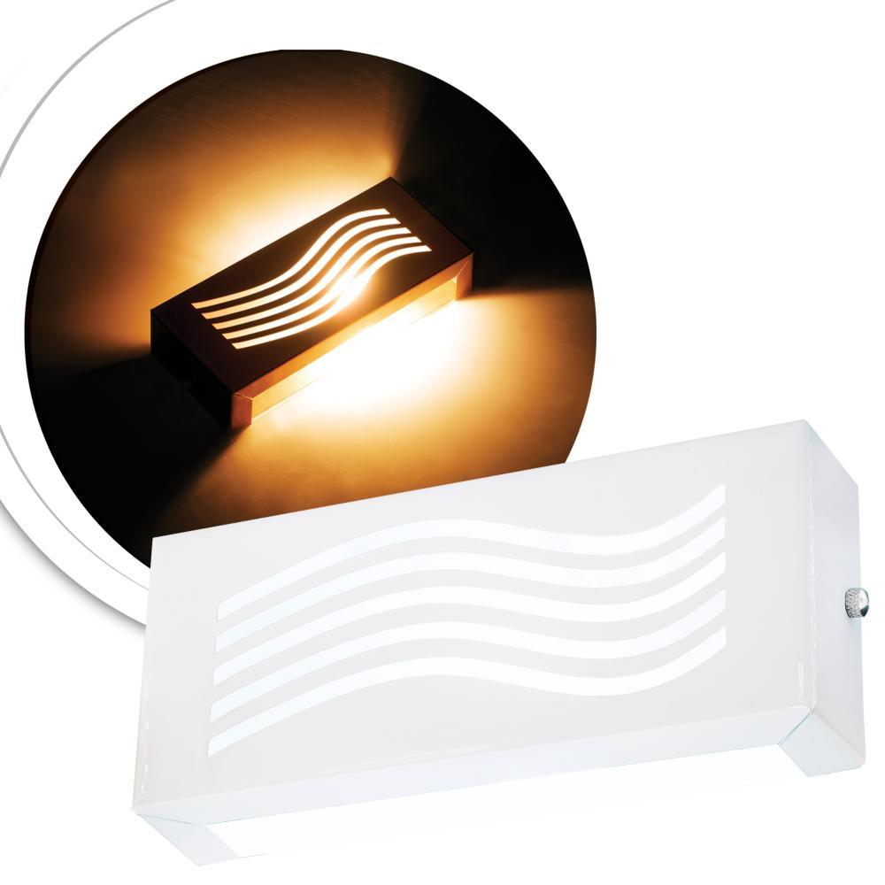 Arandela Retangular Externa Branca Linha Orion Tam: 20x8,5cm Soq: G9 Mod: Vassily