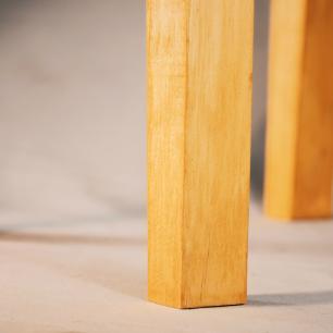 Banqueta Industrial de Madeira e Alumínio   Mod: Dedala   Cor: Pinus e Preto