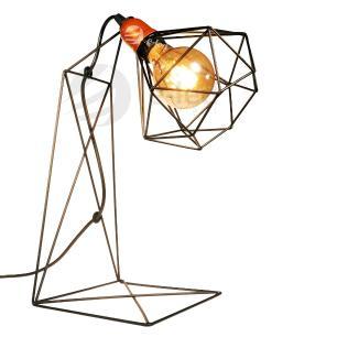 Abajur Aramado Luminária Moderna Preto Industrial