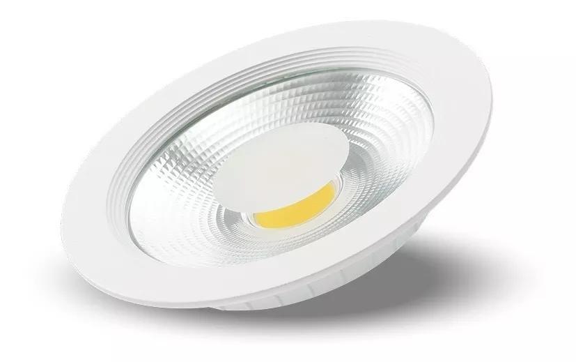 Luminária Spot De Embutir Downlight Led Cob 50w 4500 Lumens 30cm Branco Quente