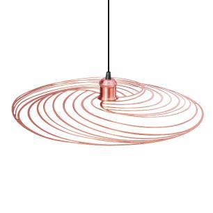 Luminária Pendente Disco Aramado Design Moderno Cobre Rosé Mod: Téplice | Soq: E27