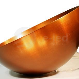 Luminária Pendente Meia Lua Bronze - Soq: E27 / Tam: 40x20cm