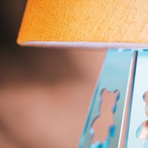 Abajur Infantil de Ursinho | Cor: Azul Bebê | Tam: 33x16cm