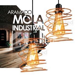 Pendente Aramado Mola Preto Design Nordic