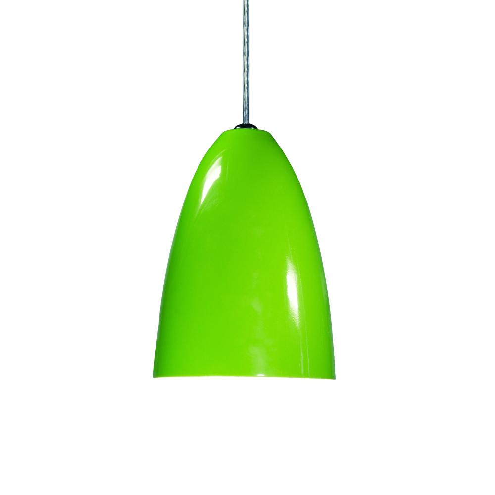 Luminária Pendente Cone de Alumínio Verde - Soq: E27 / Tam: 13x19cm
