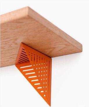 Prateleira de Madeira e Metal com Design Assimétrico   Mod: Assis  Cor: Prata