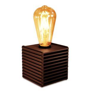 Luminária Abajur Box Retrô de Madeira Marrom Café - Soq: E27 / Tam: 10x10cm