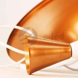 Luminária Pendente de Aluminio Tom Dixon Canadá Branco com Cobre - Soq: E27 / Tam: 33x15cm