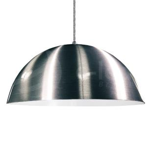 Lustre Pendente Meia Lua de Alumínio Cor: Escovado - Soq: E27 / Tam: 60x30cm