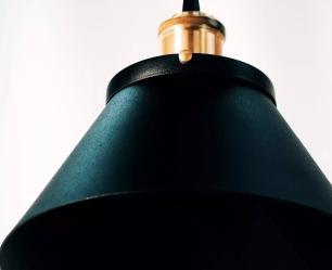 Lustre Pentente Industrial triplo Nordic Cup Soq: E27 | Cor:Preto | TAM: 24CM | Mod: Nordic Cup