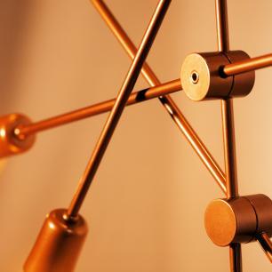 Kit Sputnik Spencer Cobre c/ 6 Lâmpadas Bulbo