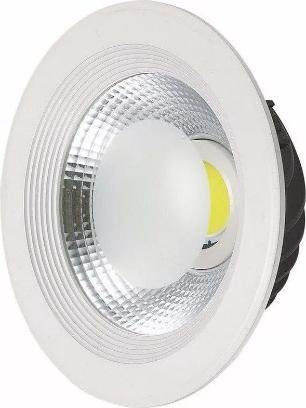 Luminária Spot De Embutir Downlight Led Cob 50w 4500 Lumens 30cm Branco Neutro