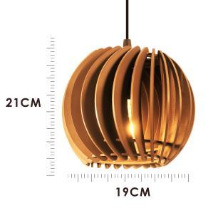 Pendente trio triplo de madeira | Canopla Retangular | 21x19cm | Soq: E-27 | Mesclado B | Mod: Tulipa