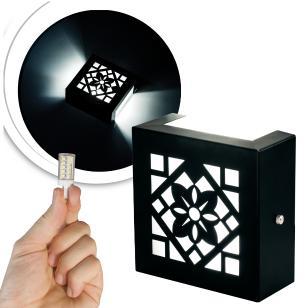 Arandela Frisada Flat Externa c/ LED 5W Incluso | Cor da Luz: 6.000k | Tam: 14x14cm | Cor: Preto | Soq: G9 | Mod: Cecia