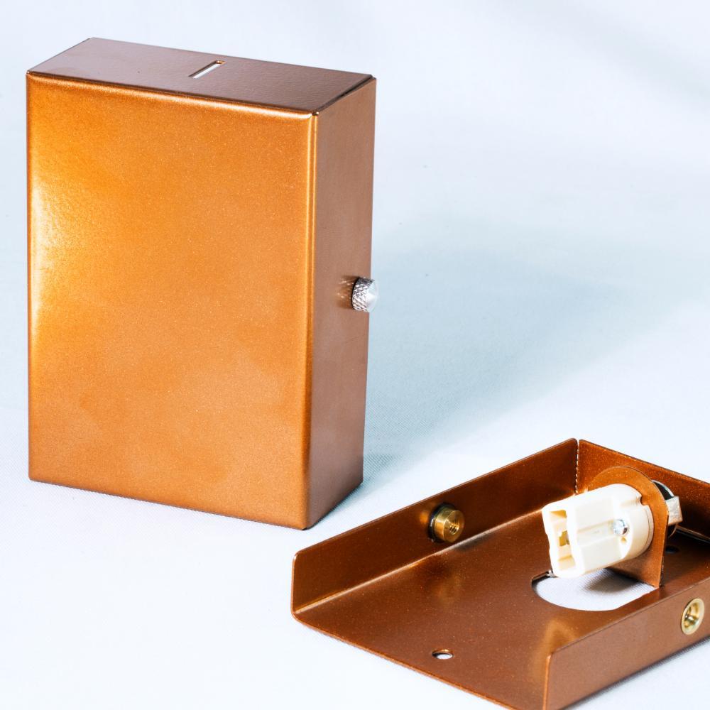 Balizador Arandela Spalte Aço Galvanizado Cor: Cobre Tam: 11x8cm Soq: G9 Mod: Flat