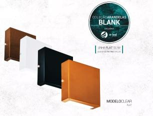 Arandela Cobre Slim Flat Externa Tam: 14x14cm Soq: G9 Mod: Clean