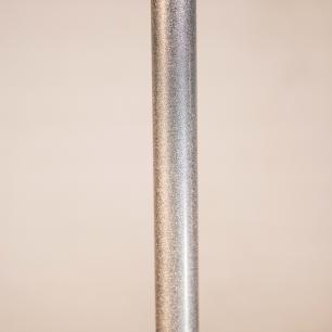 Abajur de Chão Tubeto | Cúpula branca 35cm | Soq: E27 | Cor: Prata | Tam: 150cm | Mod: Tubeto