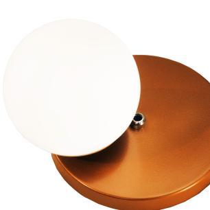 Arandela Para Parede Bola de Vidro | Tam: 24x30cm | Cor: Cobre | Mod: Mou