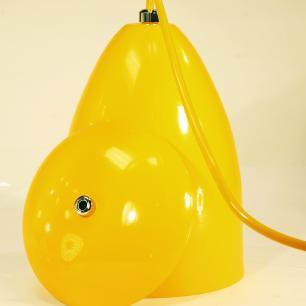 Luminária Pendente Cone de Alumínio Amarelo - Soq: E27 / Tam: 13x19cm