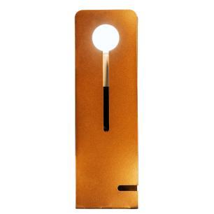 Luminária Abajur Cobre Moderno Mod: Tap com LED 5W | Soq: E27 |Tam: 11x26cm