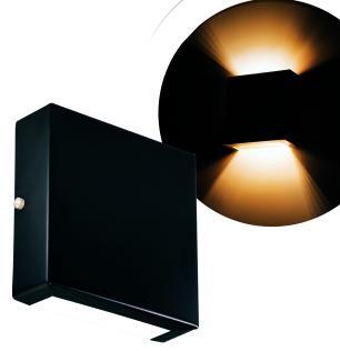 Arandela Preta Slim Flat Externa Tam: 14x14cm Soq: G9 Mod: Clean