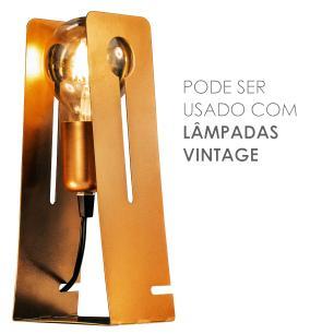 Luminária Abajur Marrom Moderno Mod: Tap com LED 5W | Soq: E27 |Tam: 11x26cm