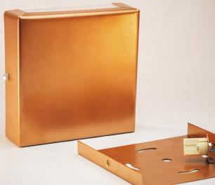 Arandela Marrom Slim Flat Externa Tam: 14x14cm Soq: G9 Mod: Clean