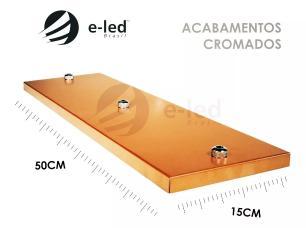 Pendente Triplo Aramado | Tam: 28x25cm | Cor: Cobre | Canopla Retangular | Mod: Diamante