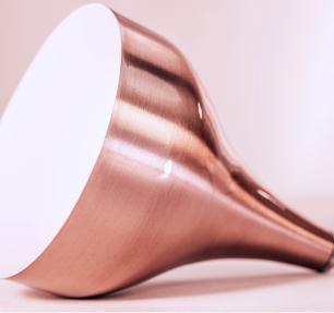 Luminária Pendente Gota Cobre Rosê de Alumínio - Soq: E27 | Tam: 18x15cm Mod: Metty