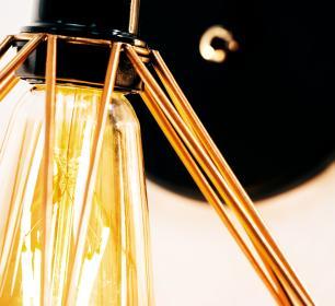 Arandela Pendente Interna Cobre Aramada Tam: 21x18cm Soq: E-27 Mod: Diamante