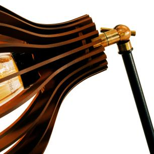 Arandela de Madeira Interna Chocolate Tam: 21x18cm Soq: E27 Mod: Bali