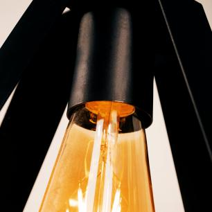 Pendente Luminária Moderno Garra Industrial Soq: E-27 | Cor: Preto | Tam: 23cm | Mod: Garra