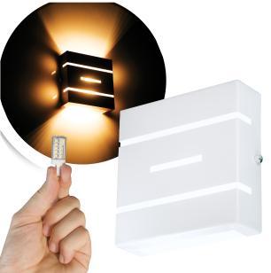 Arandela Frisada Flat Externa c/ LED 5W Incluso | Cor da Luz: 2.700k | Tam: 14x14cm | Cor: Branca | Soq: G9 | Mod: Flyn