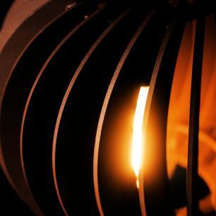 Pendente de madeira | 21x19cm | Café | Mod: Tulipa