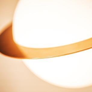 Luminária Pendente de Teto Bola de Vidro Soq: E27 | Cor: Cobre | Tam: 20x19cm | Mod: Saturno