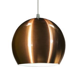 Luminária Pendente Meia Bola Conflate Cobre de Alumínio - LED 5.000K / Tam: 25x19cm