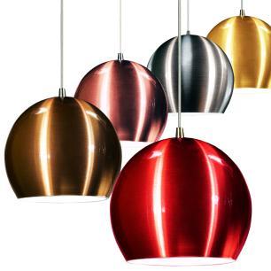 Luminária Pendente Meia Bola Conflate Preto com Cobre de Alumínio - Soq: E27 / Tam: 14x13cm